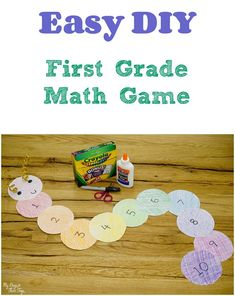 Perfect for homeschool or classroom fun, this easy DIY first grade math game is loads of fun! Want to avoid the summer slide? Add this fun game to your.