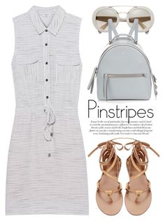 """""""Perfect Pinstripes 1981"""" by boxthoughts ❤ liked on Polyvore featuring Splendid, Fendi and pinstripes"""