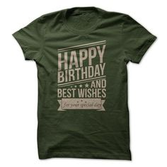 Happy Birthday T Shirts, Hoodies, Sweatshirts. CHECK PRICE ==► https://www.sunfrog.com/Birth-Years/Happy-Birthday-21477656-Guys.html?41382
