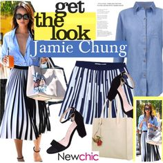 NewChic.com by vict0ria on Polyvore featuring GetTheLook, jamiechung and newchic