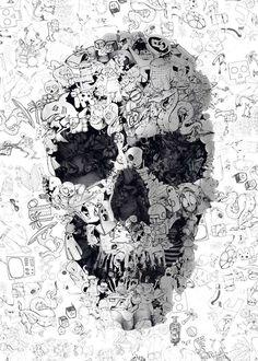 Cet artiste détourne des têtes de mort et elles deviennent joyeuses et magnifiques !
