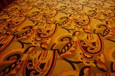 1930s pattern carpet at restored Parmount Theater, SFO