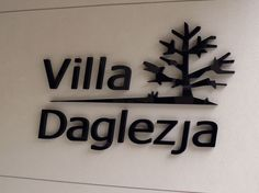 Litery 3d Villa Daglezja