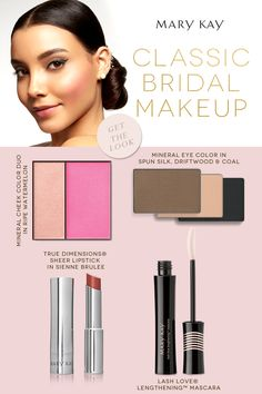 A fresh take on a timeless look. A blushing bride with a dramatic flair. | Mary Kay