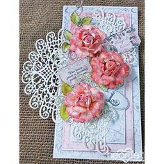 Pink Roses And Medallions project w/ Classic Wedding collection from #HeartfeltCreations