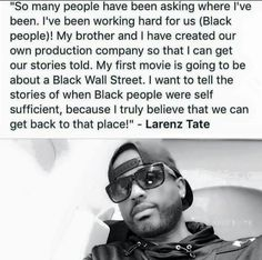 Love you Larenz! Black History Quotes, Black History Facts, By Any Means Necessary, Black Pride, My Black Is Beautiful, African American History, Black Power, Black People, In This World