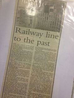 Railway line to the past  #OurPurfleet