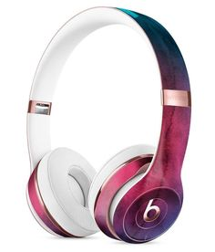 Vivid Pink 869 Absorbed Watercolor Texture Full-Body Skin Kit for the Beats by Dre Solo 3 Wireless Headphones