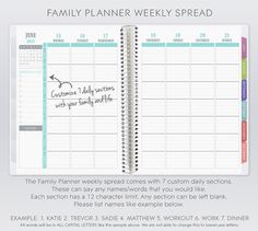 2014 & 2015 Family Planner by PlumPaperDesigns on Etsy