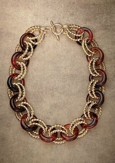 Kenneth Jay Lane Large Chain w/Double Wire Link