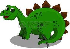 komik Stegosaurus karikatür photo