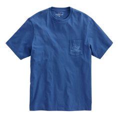 Vintage Whale Pocket T-Shirt (£32) ❤ liked on Polyvore featuring tops, t-shirts, vintage pocket tee, pocket tees, vintage tees, summer tees and summer tops
