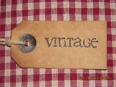 25 Small vintage coffee stained primitive hang tags by PrimWhims, $5.99