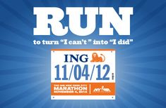 NYC Marathon....      Only marathon I have any interest in running/training for, otherwise I'll stick with halves.