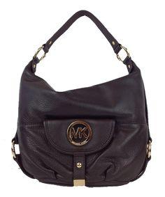 76be65b566 Michael Kors Fulton Large Leather Shoulder Bag