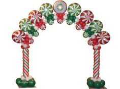 Candy Arch by Sue Bowler CBA - www.suebowler.com #christmas #christmasballoons #candy