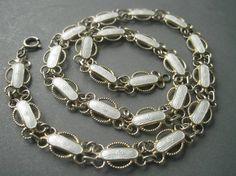 Elegant detailed sterling silver and enamel necklace by Arne