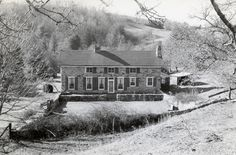"""Ripshin, Sherwood Anderson's farm in Glen Allen, Virginia.  Anderson built this house, called """"Ripshin,"""" on Ripshin Creek outside Troutdale, Va., in 1925, Wharton would often visit his friend here."""