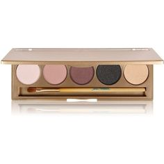Jane Iredale Smoke Gets in Your Eyes Shadow Kit ($55) ❤ liked on Polyvore featuring beauty products, makeup, eye makeup, eyeshadow, beauty, accessories, eyes, gold eyeshadow, eyebrow kit and highlighting kit