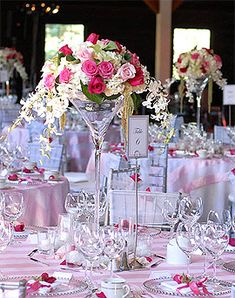 1000 images about vases d coratifs on pinterest mariage - Grand verre a pied centre de table ...