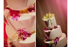 pretty orchids with greenery Floral Wedding Cakes, Floral Cake, Wedding Cake Designs, Luau Cakes, Occasion Cakes, Dolce, Bella, Orchids, Greenery