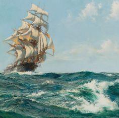 Montague Dawson R.S.M.A., F.R.S.A. BRITISH THE ABERDEEN CLIPPER, THE STAR OF PEACE