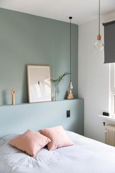 Pastel Bedroom Paint Colors Bedroom Paint Colors – Interesting Ideas You Should Know Pastel Bedroom Paint Colors. Your selection of bedroom paint colors is wide and it ranges from modern colo… Blue Green Bedrooms, Sage Green Bedroom, Gray Bedroom, Trendy Bedroom, Home Decor Bedroom, Modern Bedroom, Design Bedroom, Bedroom Bed, Bedroom Yellow