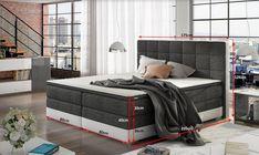 Postele čalouněné | Postel DAMASO BOXSPRINGS 160x200 (sawana 26/soft 33) + DOPRAVA ZDARMA | Nábytkománie.cz - nabízíme moderní nábytek za lákavé ceny
