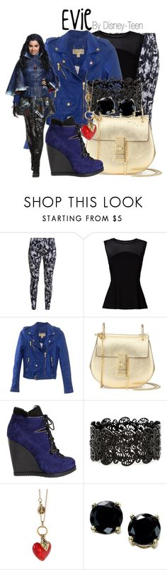 """""""Evie"""" by disney-teen ❤ liked on Polyvore featuring NIKE, MICHAEL Michael Kors, Chloé, Pierre Hardy, Charming Life, B. Brilliant and Disney"""