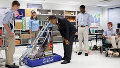 Obama supports STEM and FIRST Robotics
