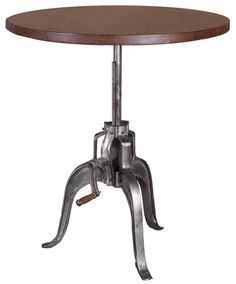 The Verde Crank Table Dark Walnut Nickel Antique From Lh Imports Is A Unique Home Decor Item Lh Imports Site Carries A Variety Of Verde Items