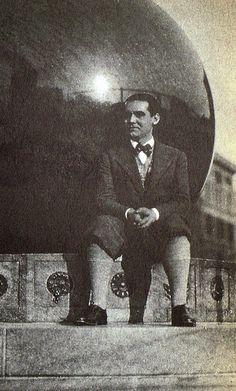 Lorca en 1929 en la Universidad de Columbia (Nueva York)