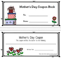 Free Printable Mother's Day Coupon Book Templates | Mother's Day ... Free Printable Mother's Day Coupon Book Templates