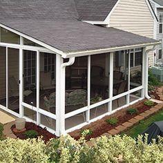 screen-room- single slope roof