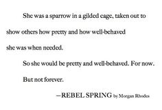 Really excited to read Rebel Spring, the second book in the Falling Kingdoms series. Can't wait till it comes out!