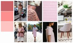 Winter fashion color palettes: pink