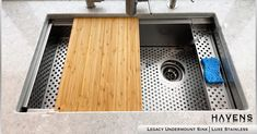 This is the innovation of effectiveness! Take your kitchen to the next level by adding our advanced sink accessories to your Haven's Legacy or Caliber sink. FB/PIN HASHTAGS #kitchenfunctionality #kitchen #kitcheninnovation #bespokekitchens #hgtv #interiors Undermount Stainless Steel Sink, Stainless Steel Cleaner, Stainless Steel Types, Undermount Sink, Stainless Steel Kitchen, Kitchen And Bath Showroom, Kitchen Sinks, Havens Kitchen, Copper Sinks