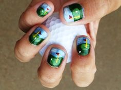 Cool golf nails