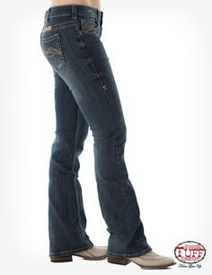 """The Original """"Don't Fence Me In"""" Jean is designed for ultimate comfort using only the best premium denim with spandex for just the right stretch without bagging out. Country Western Fashion, Cowgirl Tuff Jeans, Comfy Shoes, Dark Wash Jeans, Stretch Denim, Fence, Perfect Fit, How To Look Better, Clothes For Women"""