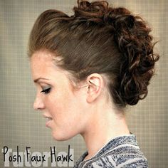 The Freckled Fox : Hair Tutorial // Posh Faux Hawk