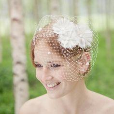 noni - Flora-Headpiece groß mit 3 Blümchen und Punkten