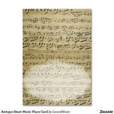 Antique Sheet Music Place Card Large Business Cards (Pack Of 100)