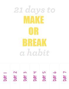 21 Days to Make or Break a Habit Freebie