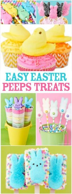 Easy Easter Treats Using PEEPS.  And they are all adorable, quick and easy.  Pinning and totally making some of these for Easter.