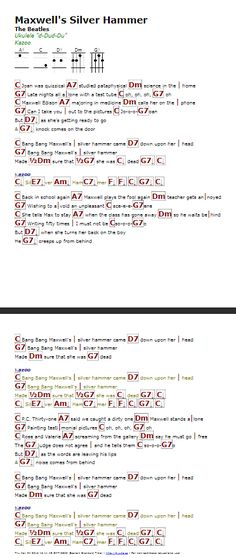 All Together Now The Beatles Guitar Chord Chart Guitar Lesson