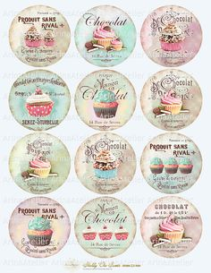 Shabby chic Sweets Circles Micro slides