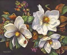 Artist Karan Bush. Floral Gallery