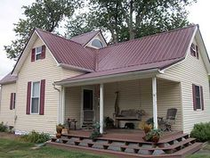 Best Taupe House Burgundy Metal Roof Remodeling Ideas Metal 640 x 480
