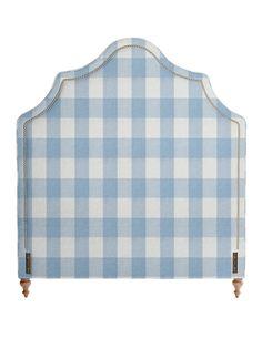 Gingham Upholstered Headboard