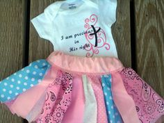 I Am Precious in His Sight - Skirt and Onesie Set by LoveMakingsAndDesign on Etsy